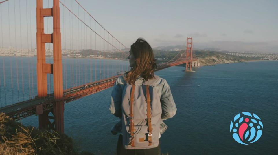 Erfahrungsbericht einer Online-Beraterin auf Reisen. Susanne bei ihrer Pause in San Francisco.
